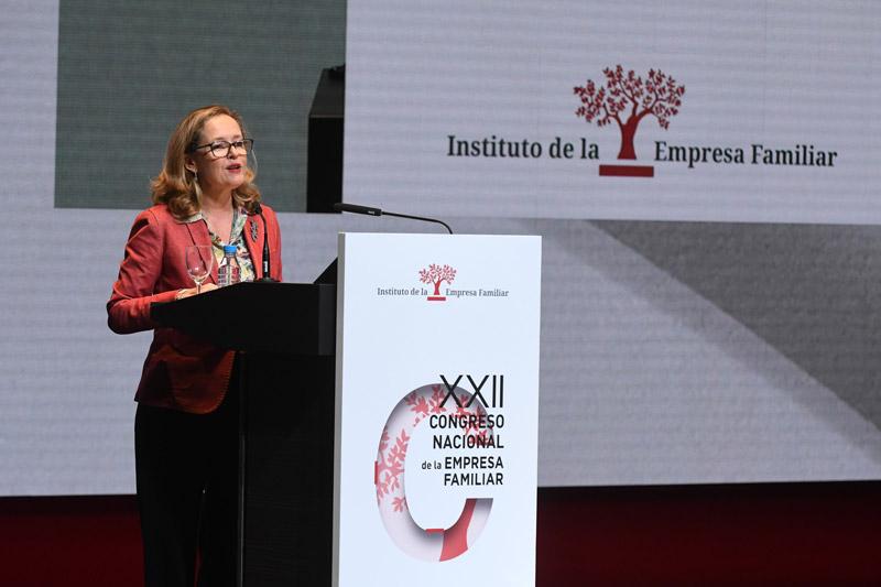 Nadia Calviño en el XXII Congreso IEF