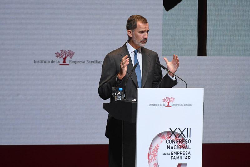 Su Majestad el Rey en el XXII Congresi IEF