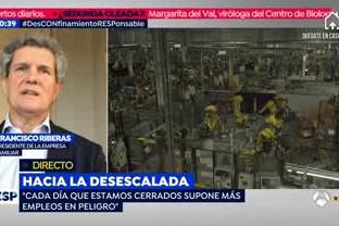 El presidente del IEF habla en A3 sobre el papel de las empresas en la crisis del Covid-19